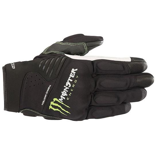 Guanti moto tecnici Alpinestars Force Monster Collection Nero Verde