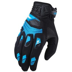 Guati Moto Cross Enduro Thor Deflector Gloves 2015 Blu Thor