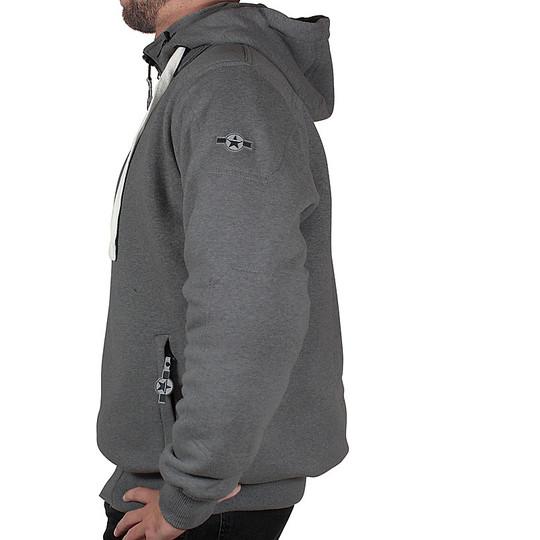 Harisson Sweater Patriot Grey Motorcycle Sweatshirt Jacket