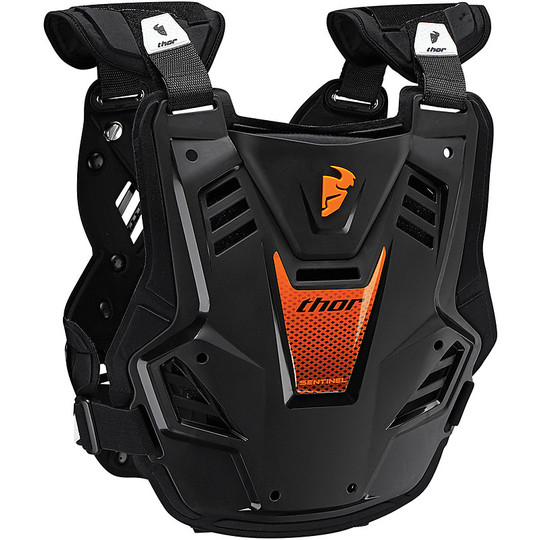 Harnais de moto Thor Sentinel GP Protector Cross Enduro Noir Orange Fluo