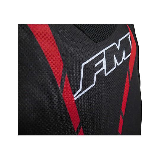 Harnais Moto Cross Enduro Ultralight FM Racing Noir Rouge