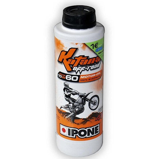 Huile pour motos IPONE Katana Off Road 100% synthétique 10w50