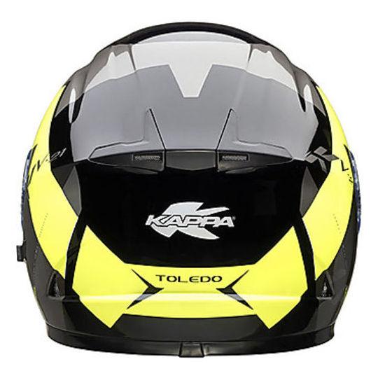 Integra KAPPA KV21 Toledo Casque de moto Double visière Noir blanc Jaune