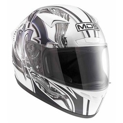 Integral Motorcycle Helmet AGV By Mds M13 Multi Brush White-Black Mds