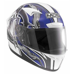 Integral Motorcycle Helmet AGV By Mds M13 Multi Brush White-Blue Mds