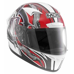 Integral Motorcycle Helmet AGV By Mds M13 Multi Brush White-Red Mds