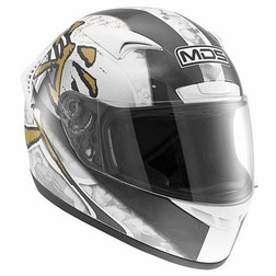 Integral Motorcycle Helmet AGV By Mds M13 Multi Ronin White-Black Mds