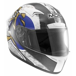 Integral Motorcycle Helmet AGV By Mds M13 Multi Ronin White-Blue Mds