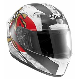 Integral Motorcycle Helmet AGV By Mds M13 Multi Ronin White-Red Mds