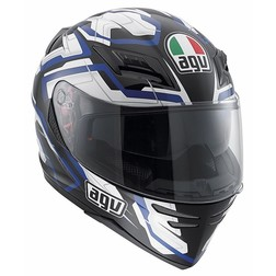 Integral Motorcycle Helmet AGV Horizon Multi Stamina Black White Blue Agv