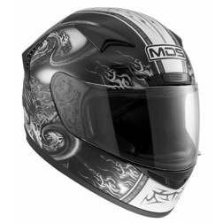 Integral Motorcycle Helmet AGV Mds By New Creature Black Sprinter Mds