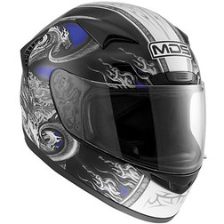 Integral Motorcycle Helmet AGV Mds By New Creature Blue Sprinter Mds