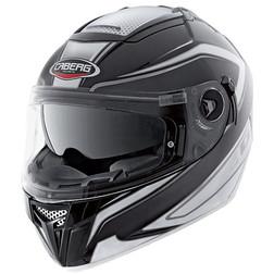 Integral Motorcycle Helmet Caberg Ego Elite Model Black-White Dual Visor Caberg