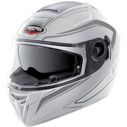 Integral Motorcycle Helmet Caberg Ego Elite Model White-Antracite Caberg