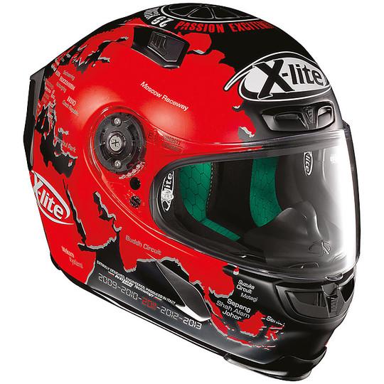 Integral Motorcycle Helmet in X-Lite X-803 Fiber Replica 015 C. Checa Matt Black
