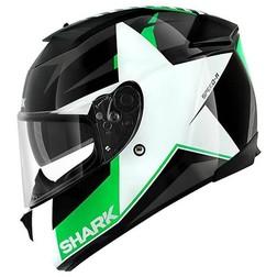 Integral Motorcycle Helmet Shark SPEED-R 2 TEXAS Black White Green Shark