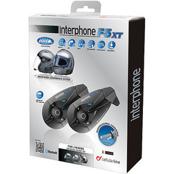 Interfono Bluetooth Cellular line F5 XT Kit Coppia Top Di Gamma Cellular line