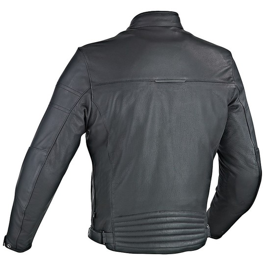Ixon Copper Slick Veste de moto en cuir véritable noir
