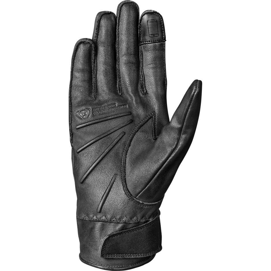 Ixon RS NIZO Gants de moto en cuir d'été noirs personnalisés
