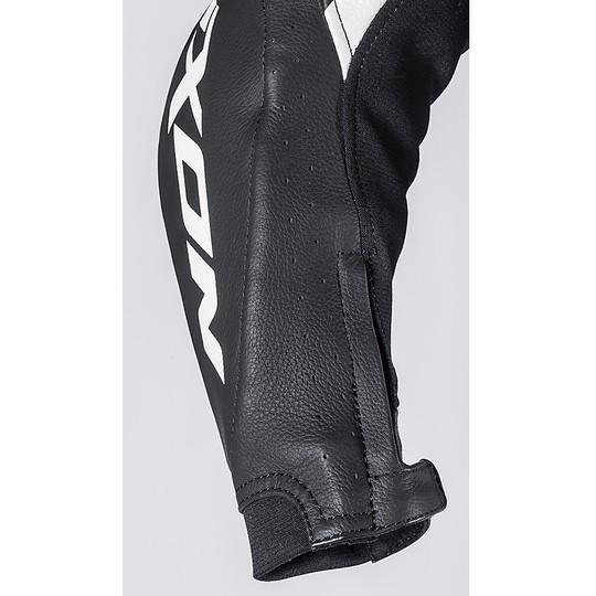 Ixon VORTEX JR Combinaison de moto professionnelle en cuir noir blanc