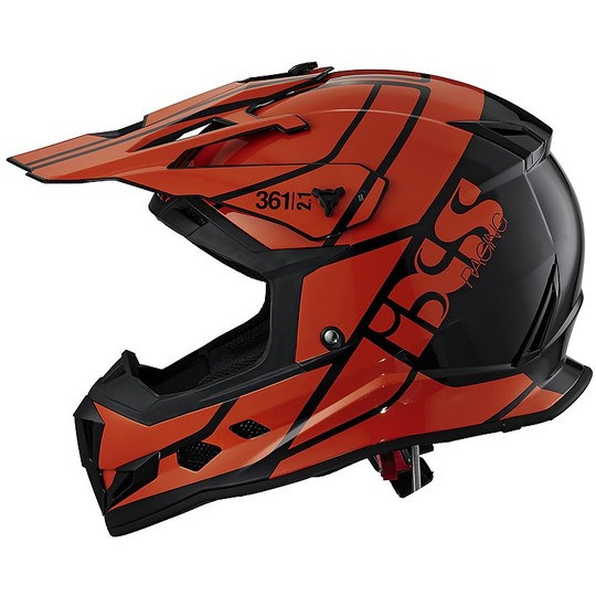 IXS 361 2.1 Cross Enduro Casque de moto Noir Orange