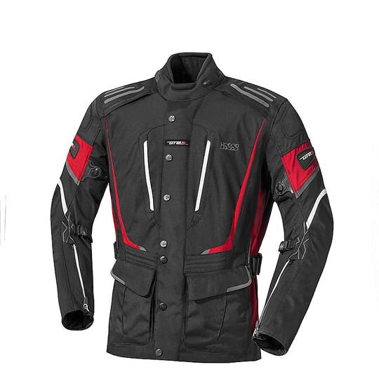 IXS Powells-ST 4 Seasons Fabric Motorcycle Tour Jacket Black Red