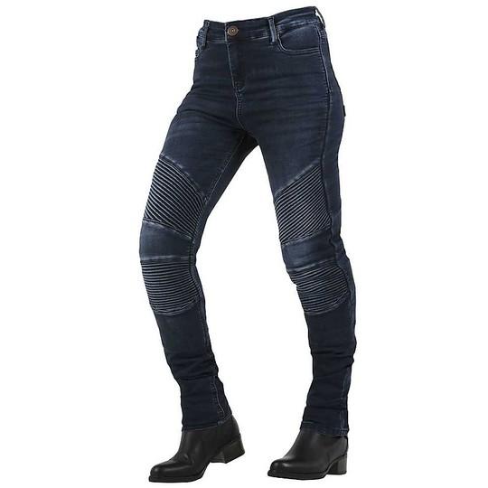 Jean Moto Femme Overlap Stradale bleu foncé homologué CE