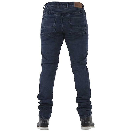 Jean Moto Overlap All Road Castel Stone Washed CE avec Kevlar