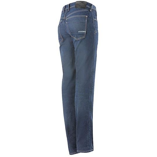 Jeans Femme Alpinestars Stella ANGELES Pantalon Moto Denim Mid Tone Blue