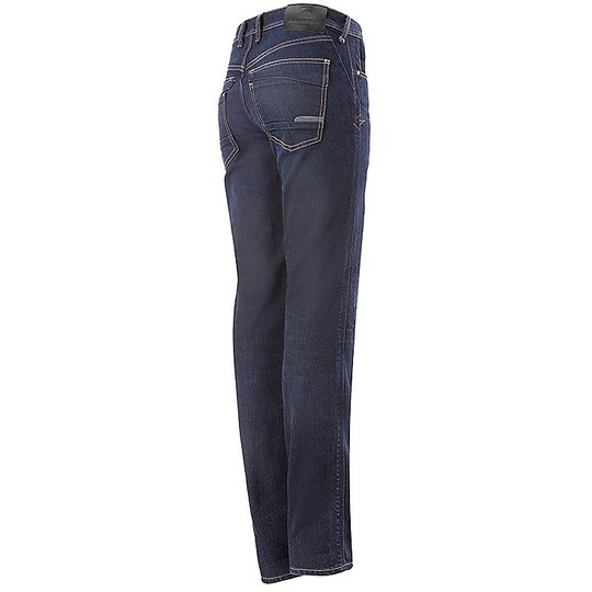 Jeans Femme Alpinestars Stella ANGELES Pantalon Moto Denim Rinse Plus Bleu