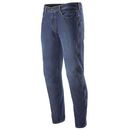 Jeans Moto Pantalon Alpinestars VICTORY Denim Mid Tone Blue