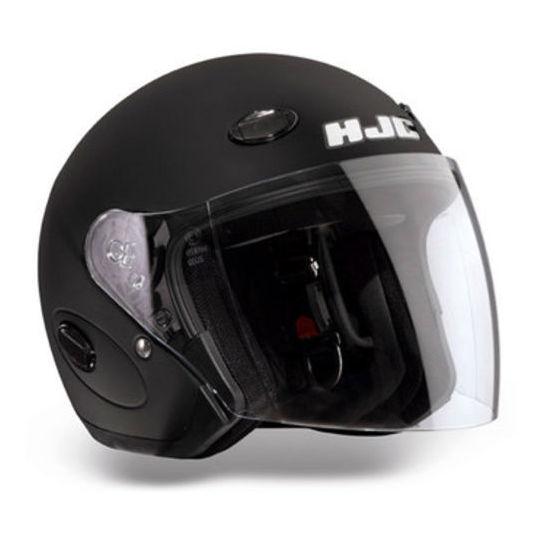 jet hjc motorcycle helmet matte black cl33 with visor long. Black Bedroom Furniture Sets. Home Design Ideas