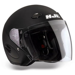 Jet Hjc Motorcycle Helmet Matte Black CL33 With Visor Long Hjc