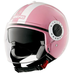 Jet Motorcycle Helmet Caberg Riviera V2 + Model Double Face Pink Legend Caberg