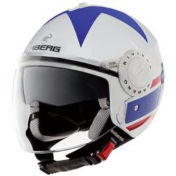 Jet Motorcycle Helmet Caberg Riviera V2 + Model Double Visor America Caberg