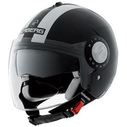 Jet Motorcycle Helmet Caberg Riviera V2 + Model Double Visor Legend Black-White Caberg