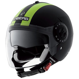 Jet Motorcycle Helmet Caberg Riviera V2 + Model Double Visor Legend Hi-Vizion Caberg