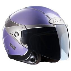Jet Motorcycle Helmet HJC ARTY Double Visor Violet Hjc