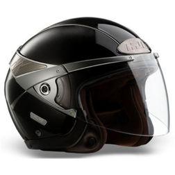 Jet Motorcycle Helmet HJC ARTY Dual Visor Gloss Black Hjc