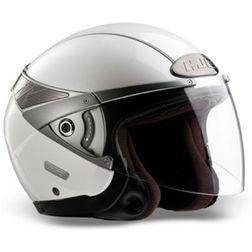 Jet Motorcycle Helmet HJC ARTY Dual Visor Gloss White Hjc