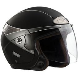 Jet Motorcycle Helmet HJC ARTY Dual Visor Matte Black Hjc