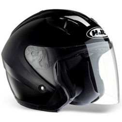 Jet Motorcycle Helmet HJC IS33 Dual Visor Gloss Black Hjc