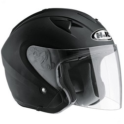 Jet Motorcycle Helmet HJC IS33 Dual Visor Matte Black Hjc