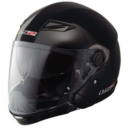 Jet motorcycle helmet LS2 Scape OF569.1 detachable chin Gloss Black Ls2
