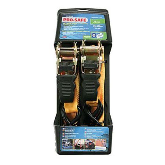 Jeu de 2 bandes tendeuses pour moto Lampa avec cliquet Pro-Safe 500 cm