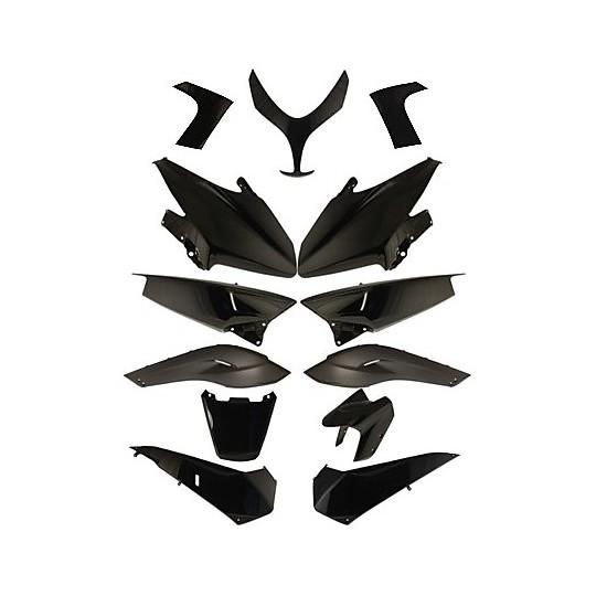 Kit complet de carénage Yamaha TMAX 500 2008-2011 noir brillant 13 pièces