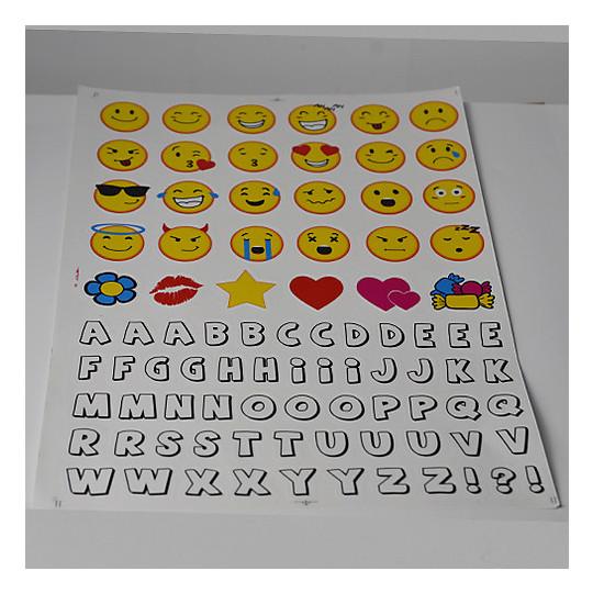 Kit d'autocollants CGM Smile pour casques pour enfants