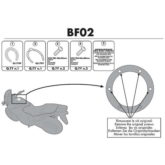 Kit de connexion pour sac Kappa BF02 pour Tanklock