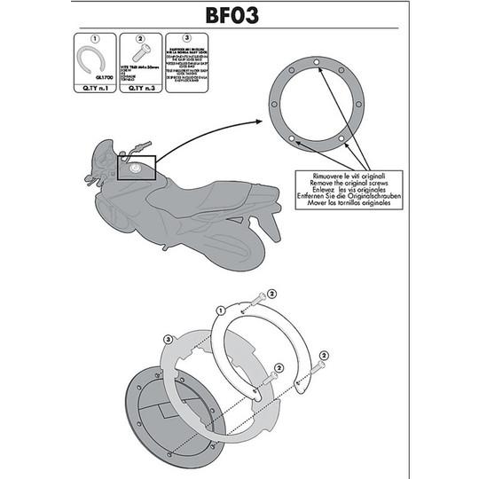 Kit de fixation pour sac Givi BF03 pour réservoir