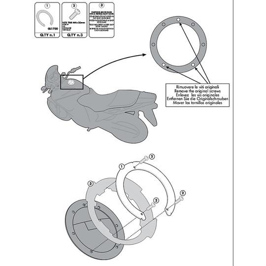 Kit de fixation pour sac Givi BF20 pour réservoir